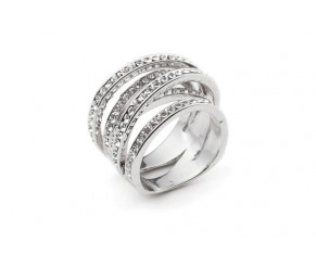 Twist ring white gold VipDeluxe