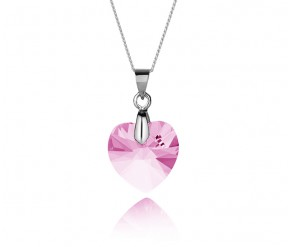 Large Heart Pendant Rose DIAMOND STYLE