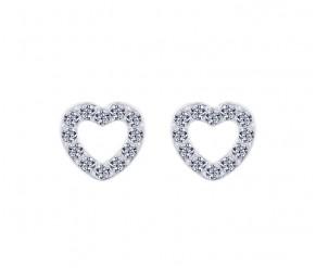 Pave Heart Stud DIAMOND STYLE