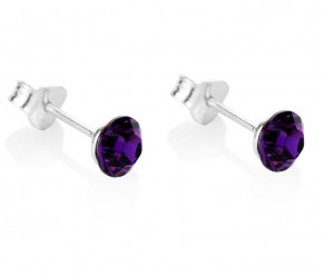 Amethyst Stud Earrings DIAMOND STYLE
