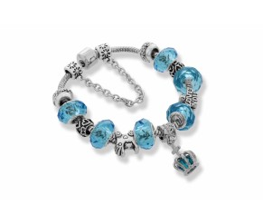Ava Bracelet in Light Blue DIAMOND STYLE