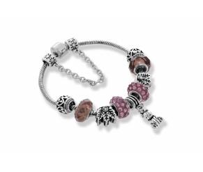 Ava Bracelet in Dusty Pink DIAMOND STYLE