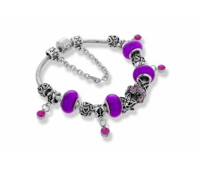 Ava Bracelet in Purple DIAMOND STYLE