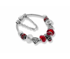 Ava Bracelet in Red DIAMOND STYLE