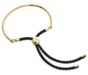 Bali Bracelet in 14k Gold with Black DIAMOND STYLE