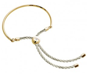 Bali Bracelet in 14k Gold with Cream DIAMOND STYLE