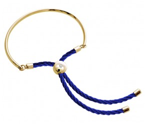 Bali Bracelet in 14k Gold with Royal Blue DIAMOND STYLE