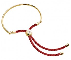 Bali Bracelet in 14k Gold with Red DIAMOND STYLE