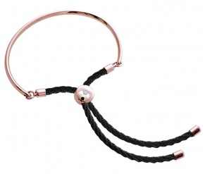 Bali Bracelet in Rose Gold with Black DIAMOND STYLE