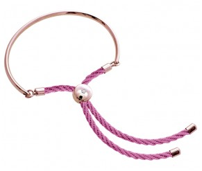 Bali Bracelet in Rose Gold with Pink DIAMOND STYLE