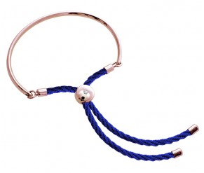 Bali Bracelet in Rose Gold with Royal Blue DIAMOND STYLE
