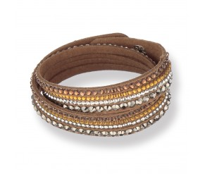 Chloe Bracelet in Brown DIAMOND STYLE