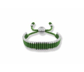 Friendship Bracelet Green DIAMOND STYLE