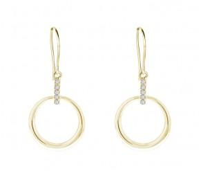 Horizon Earrings in 14K Gold DIAMOND STYLE