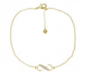 Infinity Anklet in 14K Gold DIAMOND STYLE