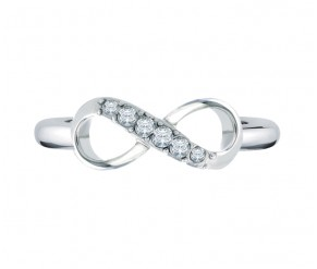 Infinity Ring DIAMOND STYLE