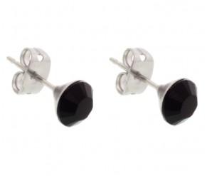 Jet Black Stud Earrings DIAMOND STYLE