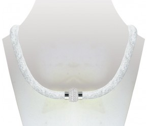 Crystal Mesh Necklace White DIAMOND STYLE