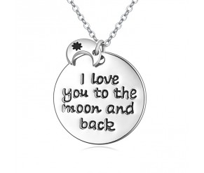 Moon and Back Pendant DIAMOND STYLE