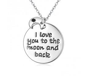 Moon and Back Pendant DIAMOND STYLE