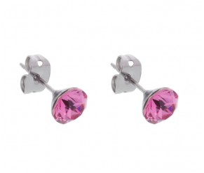 Rose Stud Earrings DIAMOND STYLE