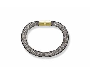 Mesh Bracelet Black DIAMOND STYLE